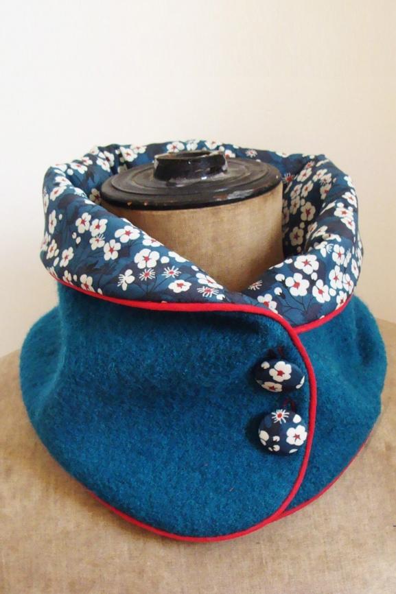 col-laine-bouillie-bleu-canard-et-liberty-mitsi-tissumi
