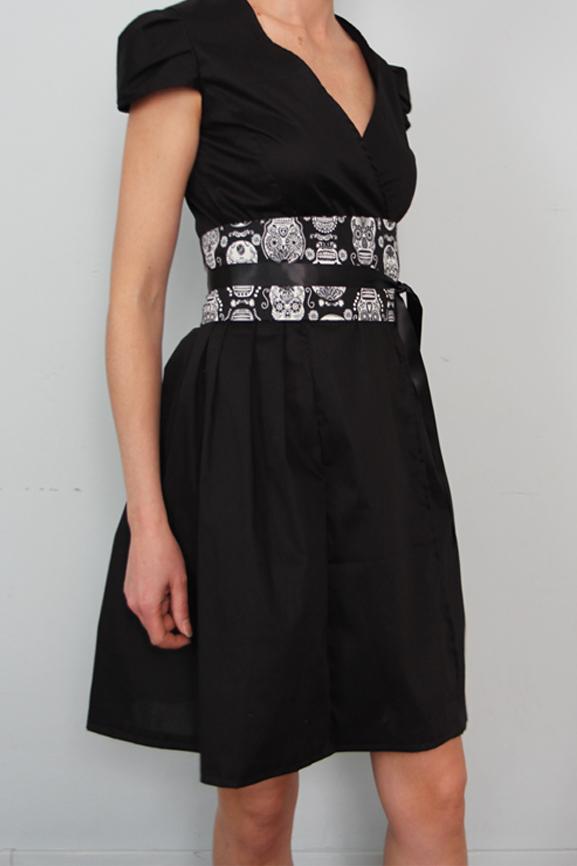 robe retro portefeuille noire tissumi 8