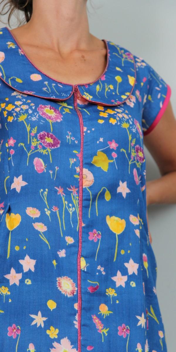 robe blouse a fleurs 3 tissumi