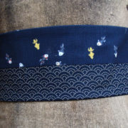 ceinture obi poisson japon bleu marine 7 tissumi