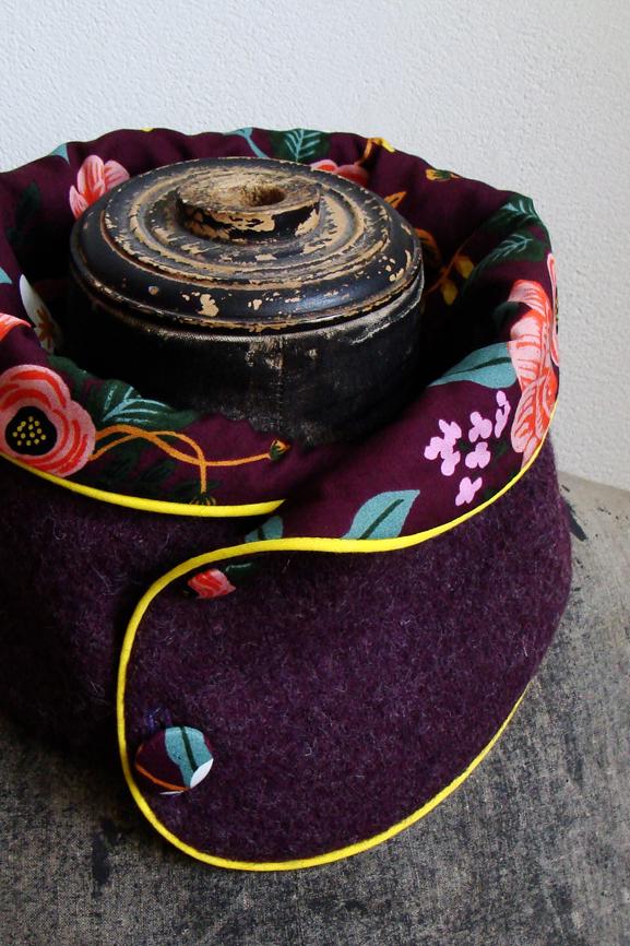 col laine bouillie prune chine fleurs boheme 5 tissumi