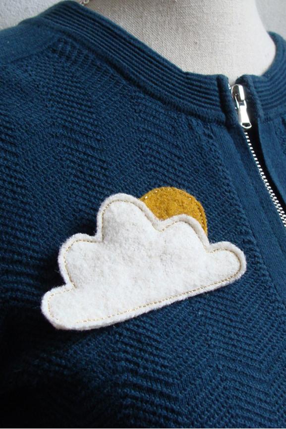 nuage blanc et doré laine 4 bis tissumi