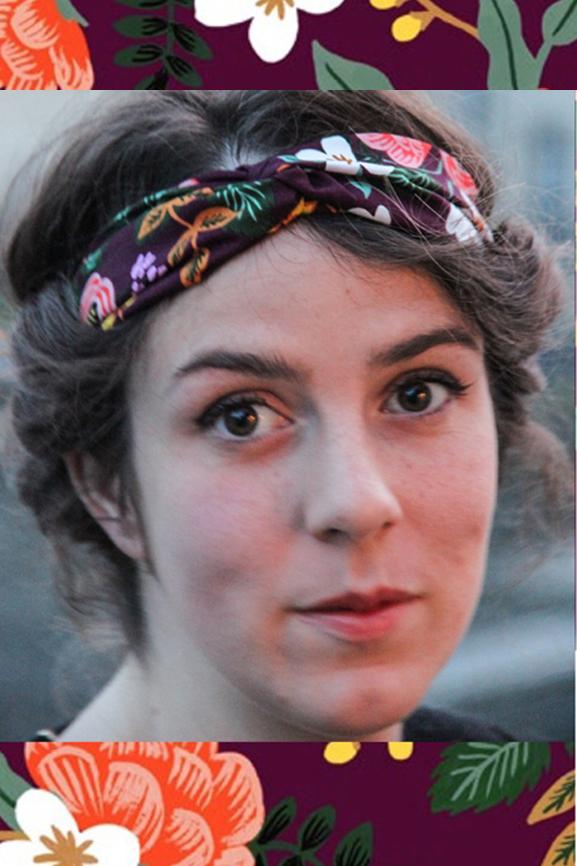 bandeau twist headband bordeaux boheme fleurs 2 tissumi bd