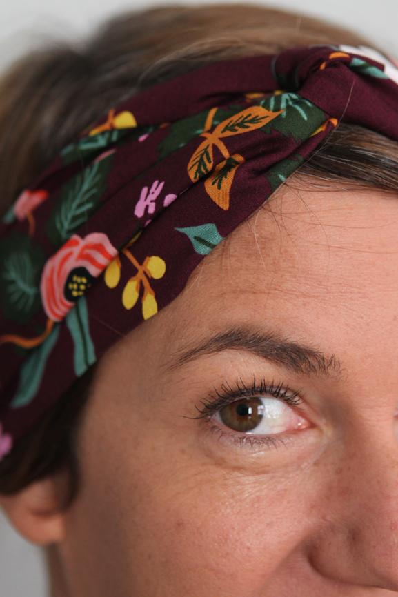 bandeau twist headband bordeaux boheme fleurs 2 tissumi copie