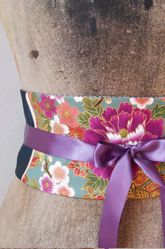 ceinture obi japon fleur 4 tissumi copie