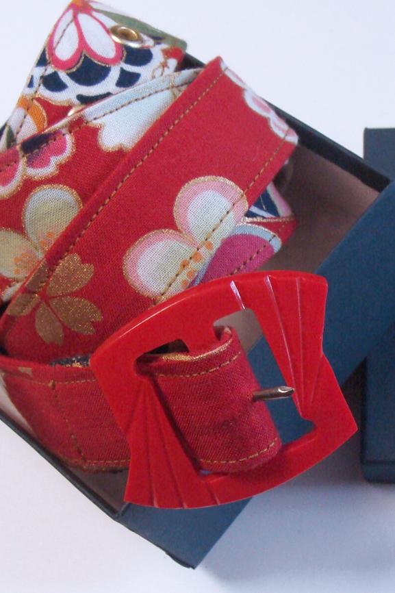 ceinture boucle tissu japonais